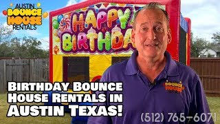 Austin Bounce House Rentals - Happy Birthday Bounce House Rental in Austin Texas!