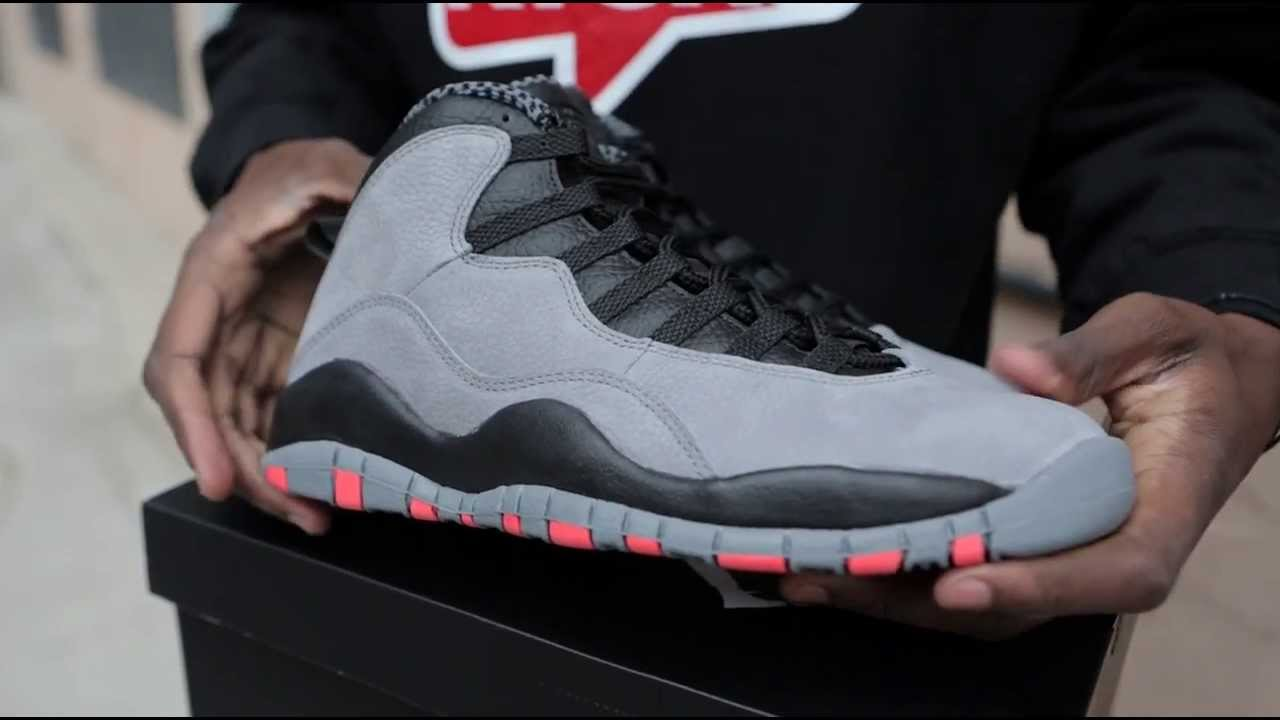 3cf1558331d Air Jordan 10 Cool Grey/Infrared Unboxing - YouTube
