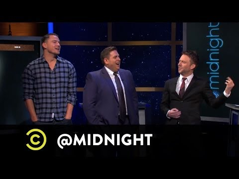 "Jonah Hill and Channing Tatum of ""22 Jump Street"" on @midnight w/ Chris Hardwick"
