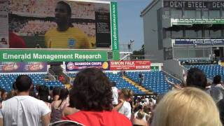 National Anthem during England vs Germany World Cup Match at Headingley Carnegie Stadium