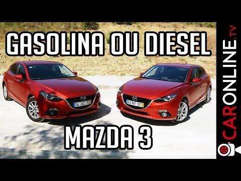 Diesel vs Gasolina? Qual comprar? Comparativo MAZDA 3 SkyActiv [Review Portugal]
