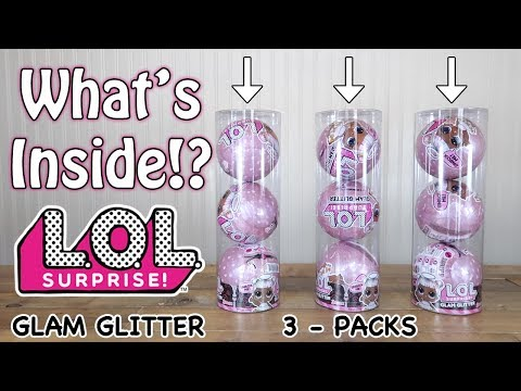LOL Surprise Glam Glitter Series - 3 PACK! What's inside HACK!? Part 1