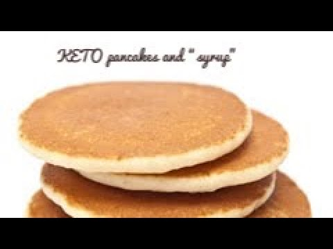 """Keto coconut pancakes and """"syrup"""""""