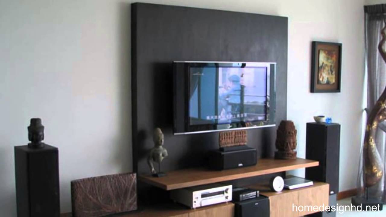 how to decorate around your flat screen television [hd] - youtube