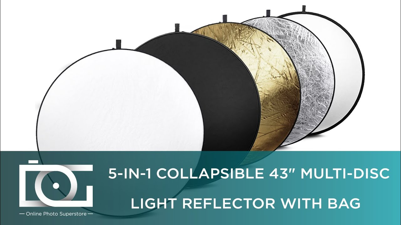 5-in-1 lighting reflector explained & how to fold photography.