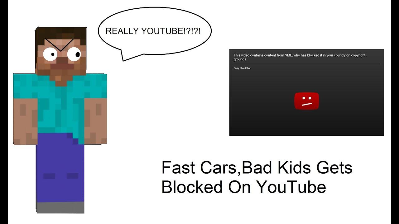 fast carsbad kids gets blocked on youtube