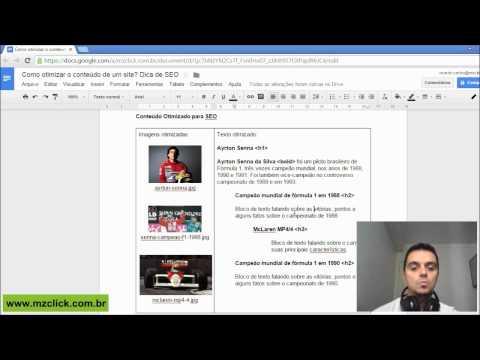 Vídeo: Como otimizar o conteúdo de um site - Dica de SEO