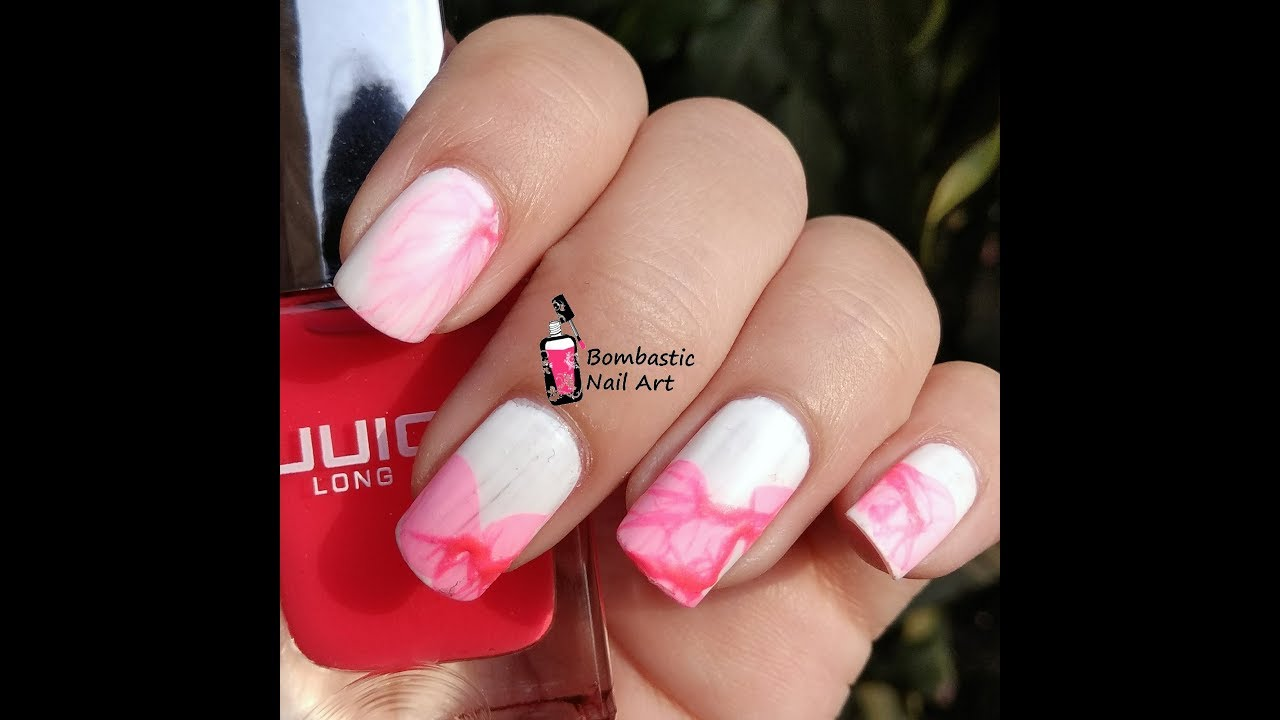How to do flower petal water marble nail art step by step how to do flower petal water marble nail art step by step technique izmirmasajfo