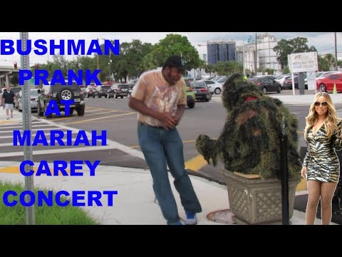 BUSHMAN PRANK AT MARIAH CAREY CONCERT