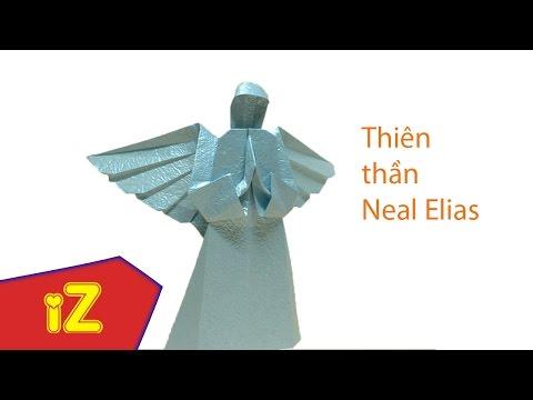Hướng dẫn cách gấp mẫu THIÊN THẦN của  Neal Elias - góc Origami izTUT