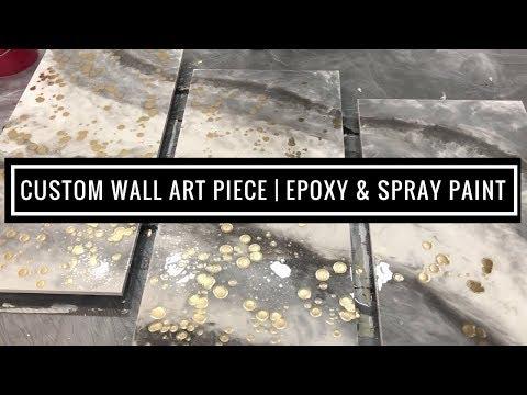Custom 3-Piece Epoxy Wall Art