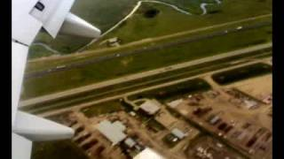 Landing at Edmonton International Airport