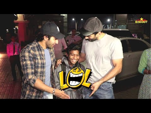 Varun Dhawan & Aditya Roy Kapur MAKES FUN Of Media Photographer Will Make You Laugh