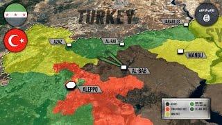 25 октября 2016. Военная обстановка в Сирии и Ираке. Турция идет на Эль-Баб.  Русский перевод.