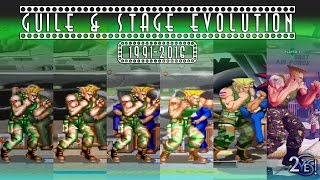 Street Fighter - Guile All Console Air Force Base Stage Evolution/History (1991-2016)