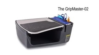 Autoexec Gripmaster 02 Efficiency Auto Desk With Writing Surface And Supply Organizer, Gray