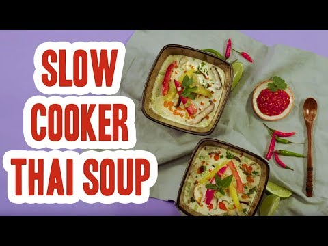 Easy Slow Cooker Thai Soup