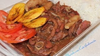 How - To Make Real  Jamaican Stew Pea's With Oxtail & Smokey Turkey Leg Recipe Video 2014