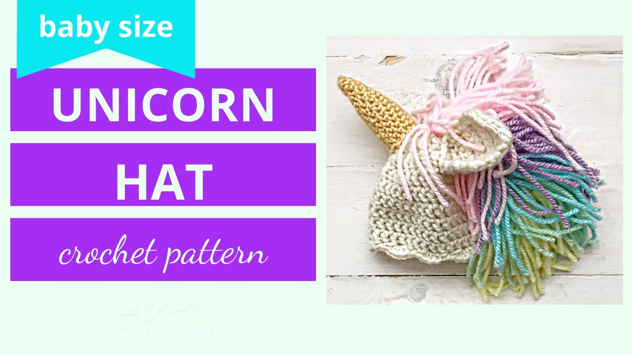 4dcc8fc98fb Unicorn Hat Crochet Tutorial Video