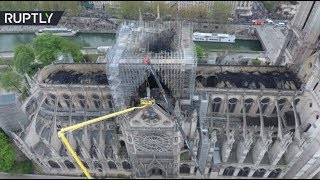 Drone footage shows extent of Notre Dame damage after horrendous fire