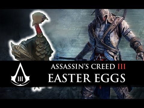 Assassin's Creed 3 - Los mejores EASTER EGGS + PAVO ASESINO (Trucos, Misterios y Secretos)