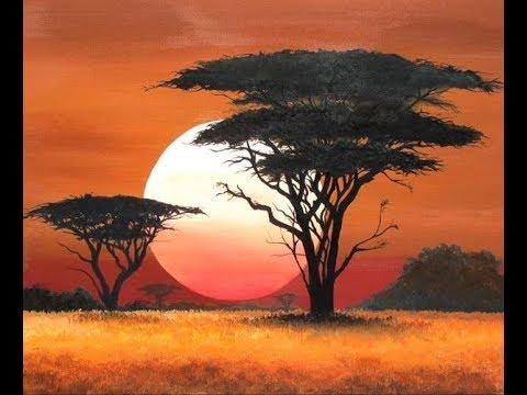 Sunset Painting II Nature Painting II Landscape painting