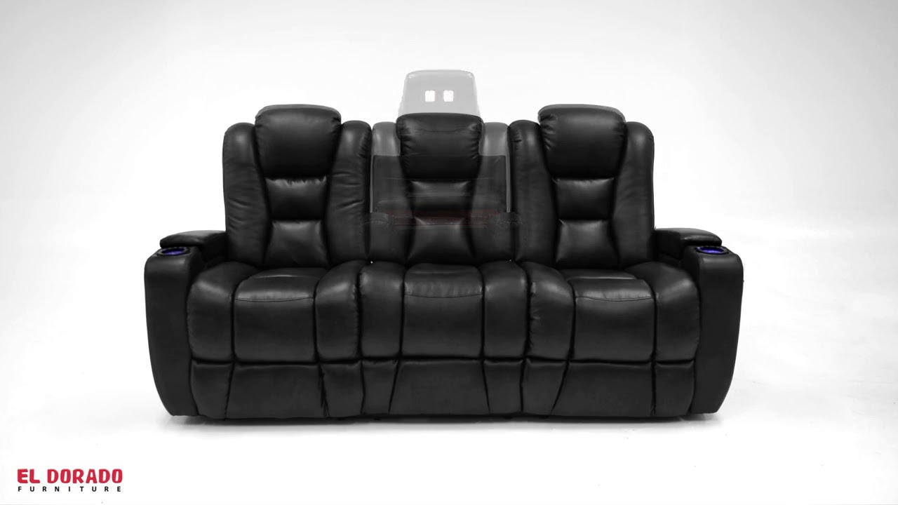 Transformer Black Motion Duo Recliner Sofa