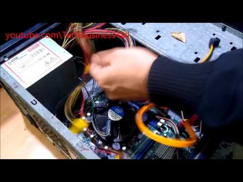 Installing Samsung DVD Drive & WD Hard Disk & Cable Management In PC Cabinet[Hindi\Urdu]