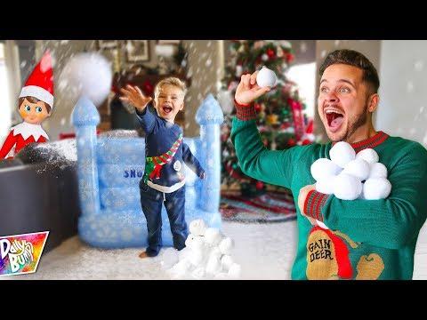 Indoor Snowball Fight Prank!