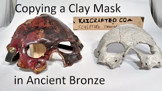 Making a Silicone Mold and Casting a Mask in Bronze Metal