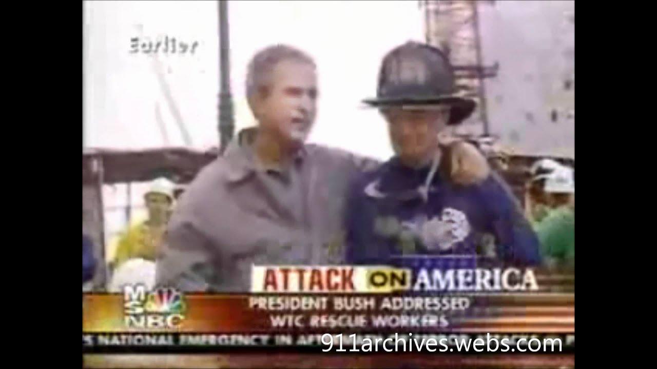 George W Bush Ground Zero Bullhorn Speech 9 14 01 Youtube