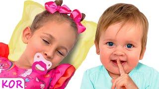 마야는 좋은 언니가 되고 싶어 합니다   교육으로 동요와 아기의 노래를