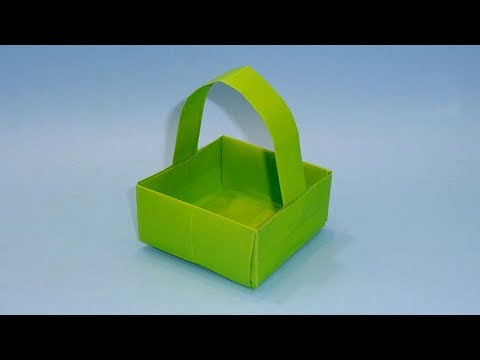 How To Make Easy Paper Basket | DIY Origami Basket (Paper Craft Ideas)