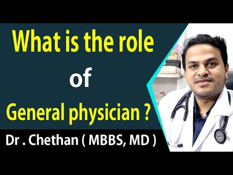 What is the role of a general physician ?   Dr . Chethan ( MBBS, MD )