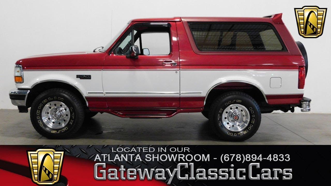 1994 Ford Bronco 4x4 - Gateway Classic Cars of Atlanta ...