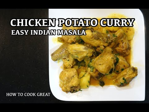 Easy Chicken Potato Curry - How to cook Chicken Curry - Best Curry Recipe