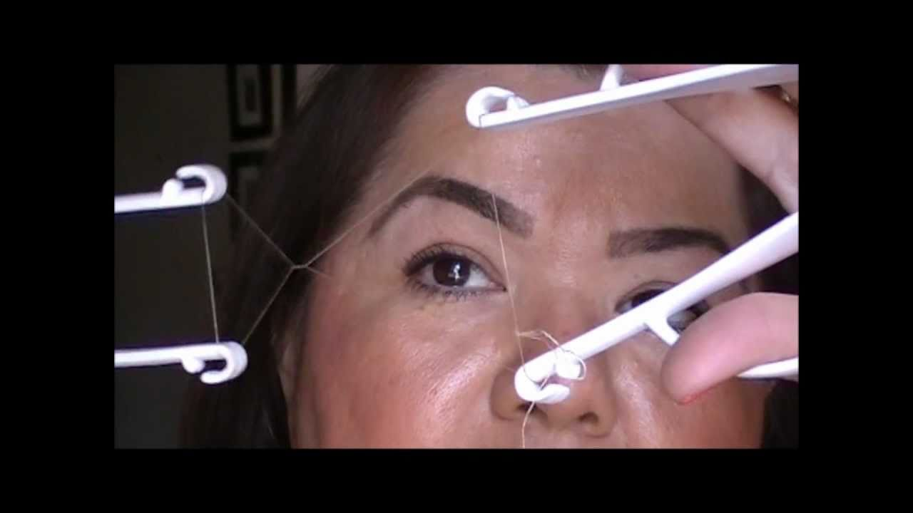 Eyebrow Threading For Dummies Using The Helix Threading System Youtube