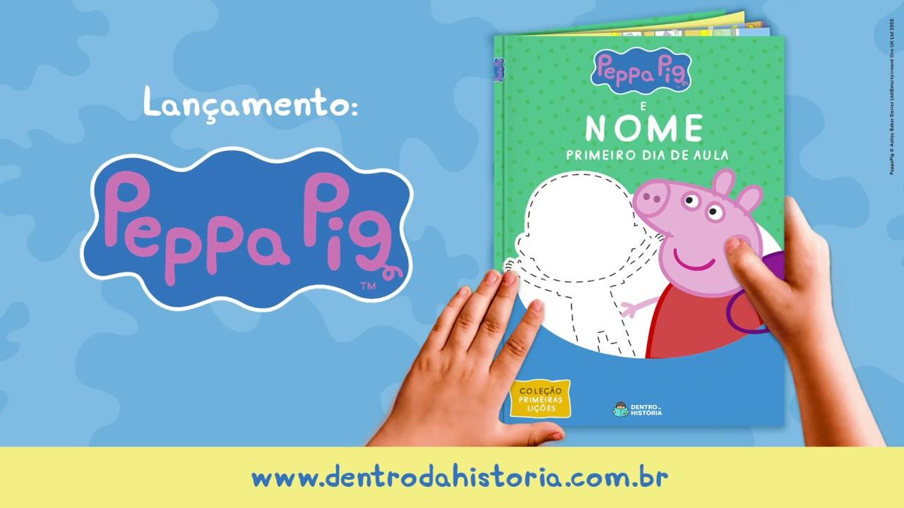 Livro Personalizado da Peppa Pig! Seu pequeno Dentro da História
