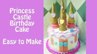 Make a Princess Castle Birthday Cake with Jill