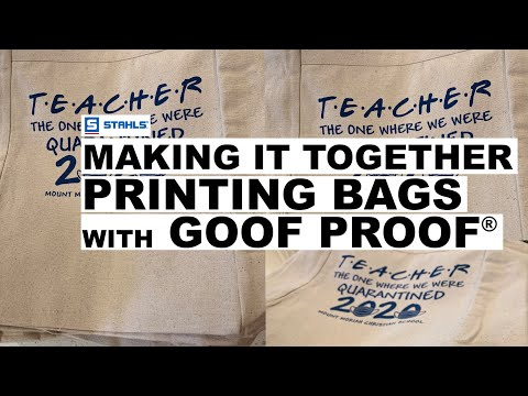 Running A Job Of Canvas Bags With Goof Proof® - Making It Together