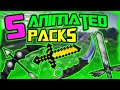 Top 5 Animated Resource Packs 1.8/1.7(1.9 has a few screwups) (Animated Default Edit, CSGO Pack)