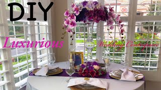 DIY Dollar Tree Luxurious Wedding Centerpiece | 24