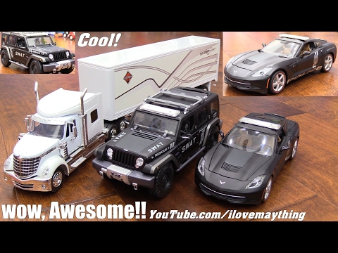 Toy Cars and Toy Trucks! Police Cars, Semi Hauler Truck, RC Car, Thomas the Train and More!