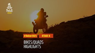 #DAKAR2021 - Stage 8 - Sakaka / Neom - Bike/Quad Highlights
