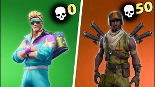 0 KILL VICTORY vs 50+ KILL VICTORY in Fortnite Battle Royale