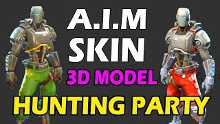 A.I.M Skin (Hunting Party) 3D MODEL! FULL SKIN SHOWCASE! NEW FORTNITE SKIN