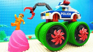 Lego Police Car Super Bulldozer Kin...