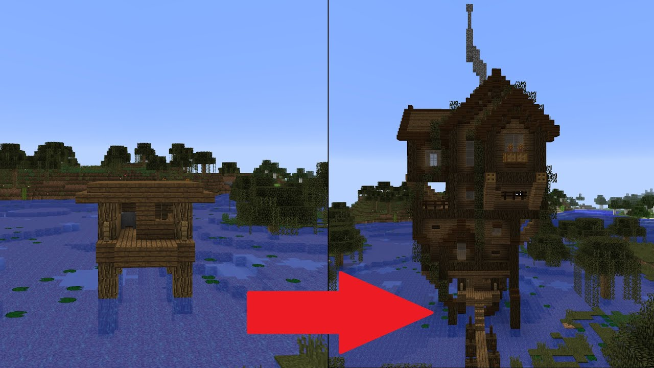 let s transform a minecraft witch hut
