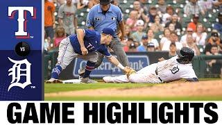 Rangers vs. Tigers Game Highlights (7/19/21)   MLB Highlights