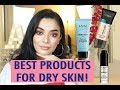 BEST FACE PRODUCTS FOR DRY SKIN (PRIMERS, FOUNDATIONS & MORE) | DRUGSTORE EDITION!